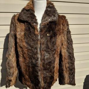 Jackets & Blazers - Vintage 1960s/70s rabbit fur